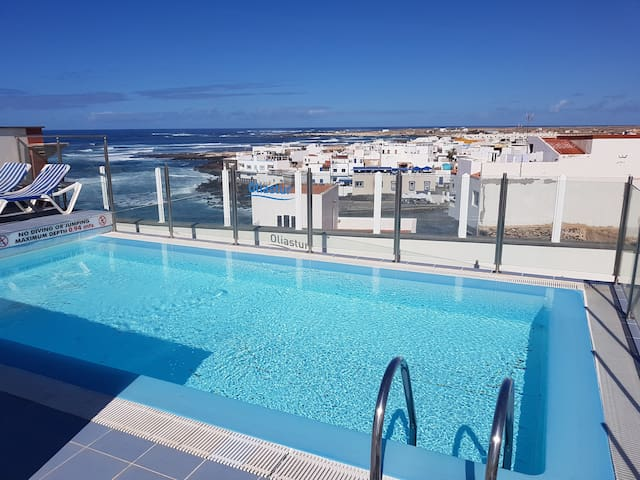 Relaxed Escape - Apartment with Terrace and Pool - El Cotillo - Apartamento