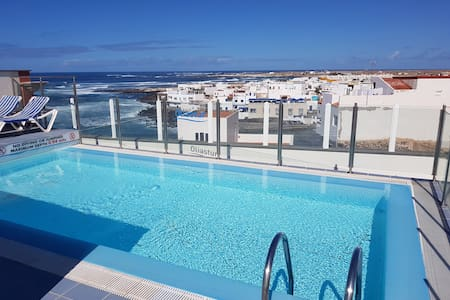 Relaxed Escape - Apartment mit Terrasse und Pool - El Cotillo - 公寓