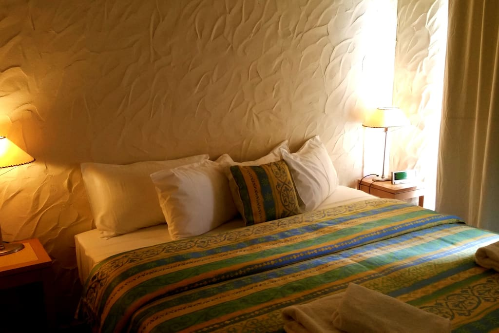 king size bed in main bedroom. All linen and towels supplied.