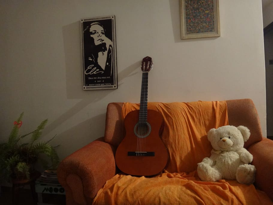 Space for music and relax. With many plants.