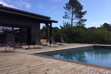 maison contemporaine a ossature bois - Rosières - Pensió