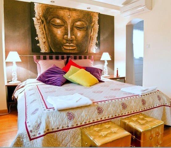 L'Hermine Occitane, chambre Namaste, piscine, spa