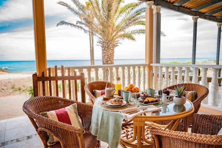 Traditional mediterranean beachfront villa