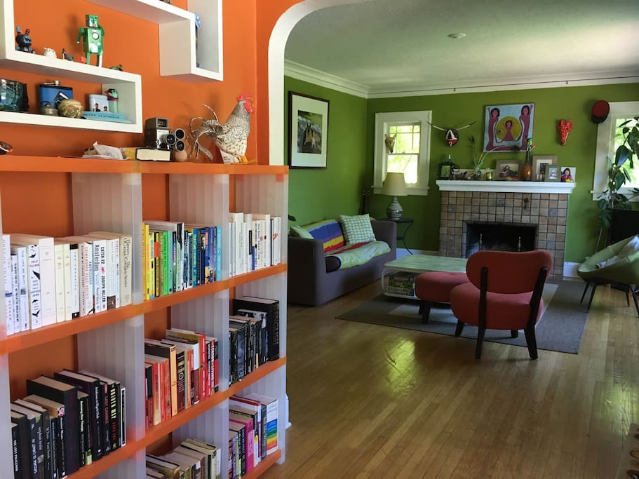 Traditional Portland craftsman bungalow with bright, cheerful accents and lots to explore!