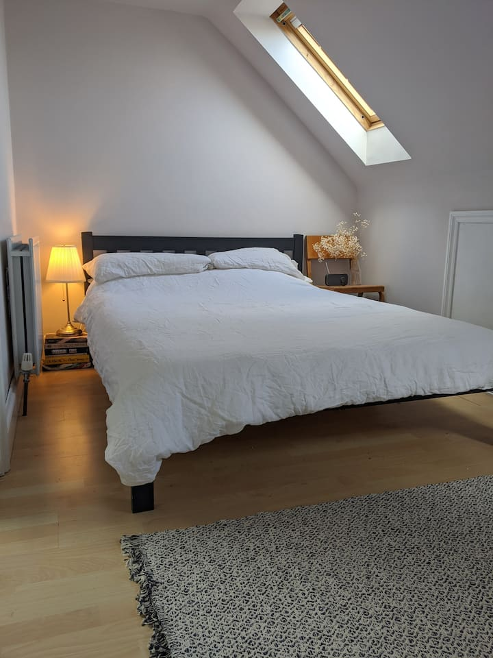 Bright double bedroom with en suite.