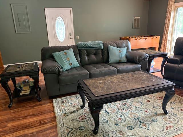 TV/Game room with queen sleeper sofa