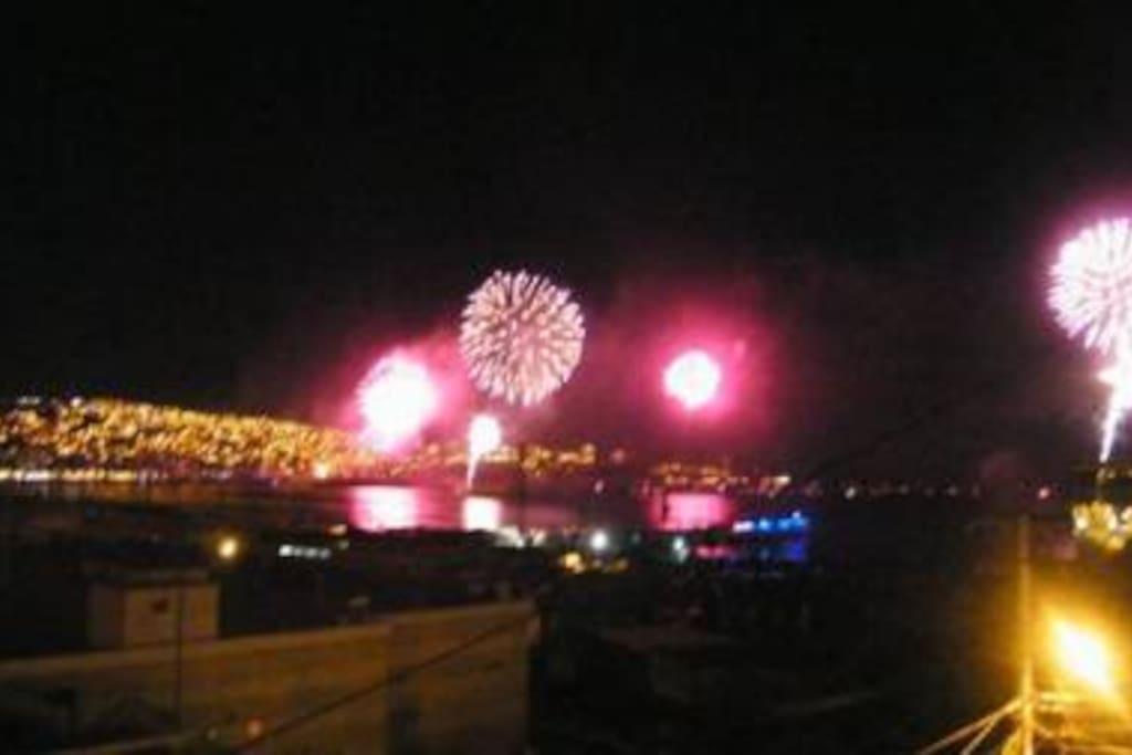 año nuevo junto al mar
