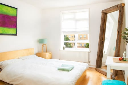 Large room in bright airy and friendly flat.