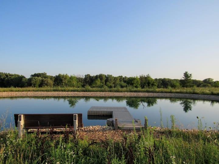 Country Home Near Green Lake | Beach Swimming Pond