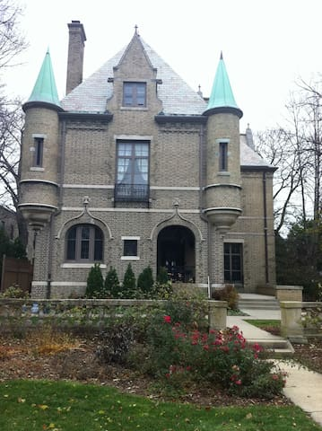 Fairytale castle on Lake Michigan