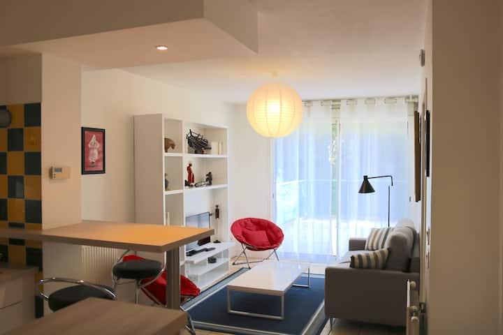 Appartement tout équipé,proche centre ville,garage