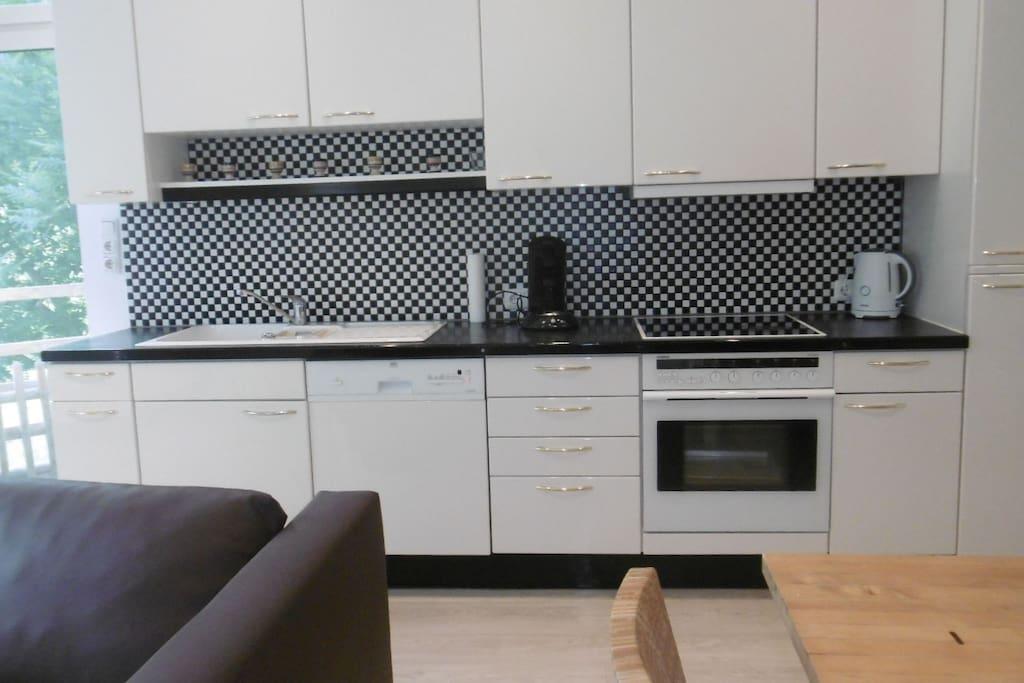Moderne Küche mit allen Geräten Modern kitchen with all features