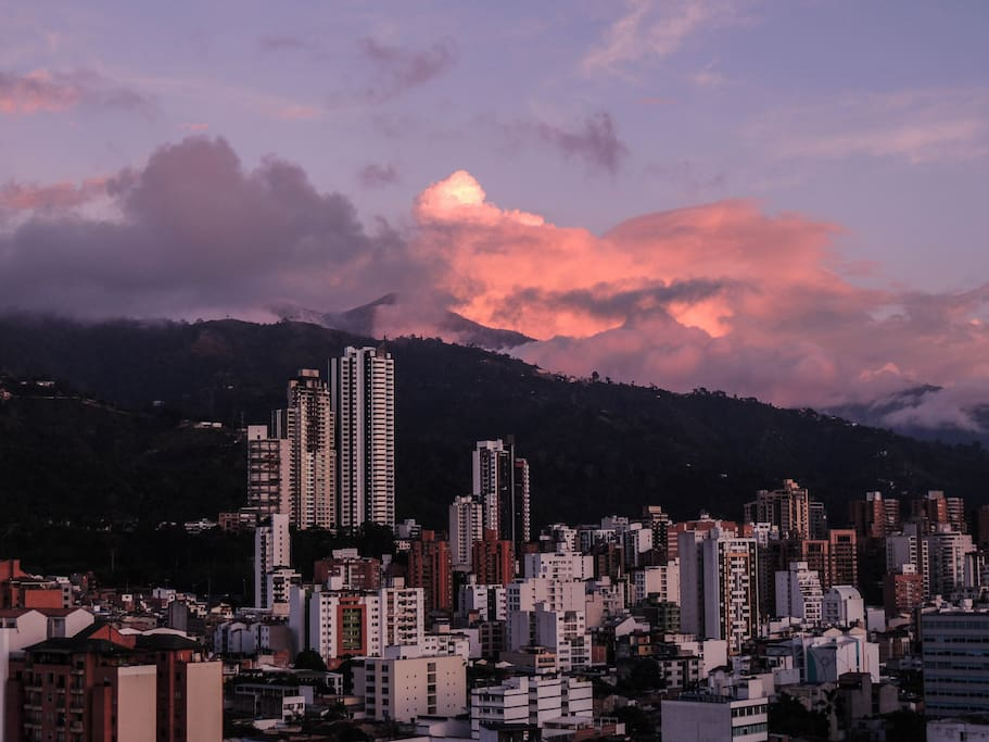 Vista a los Cerros Orientales de Bucaramanga