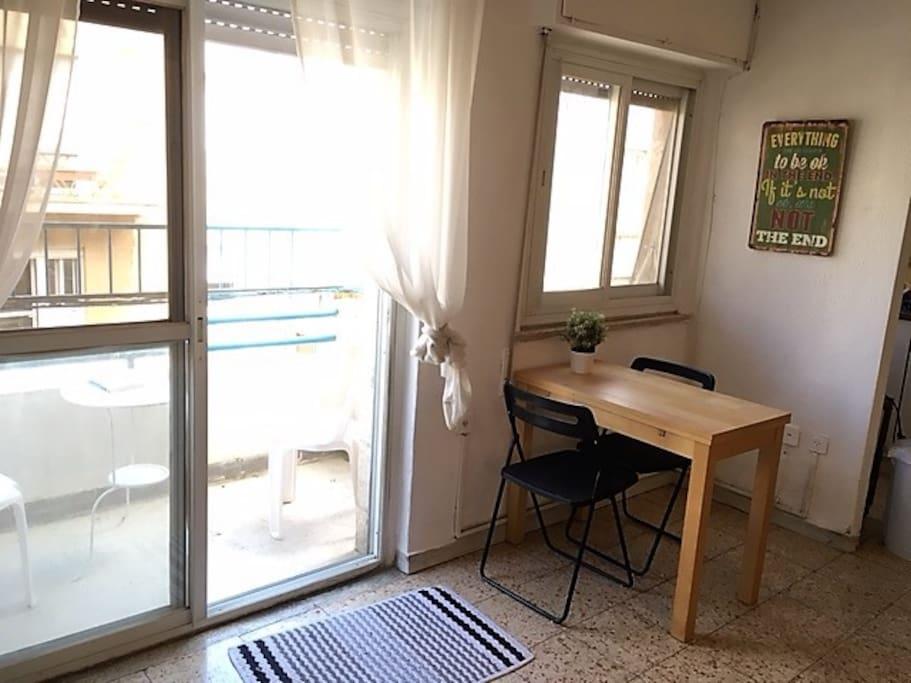 Balcony no. 2 + eating area