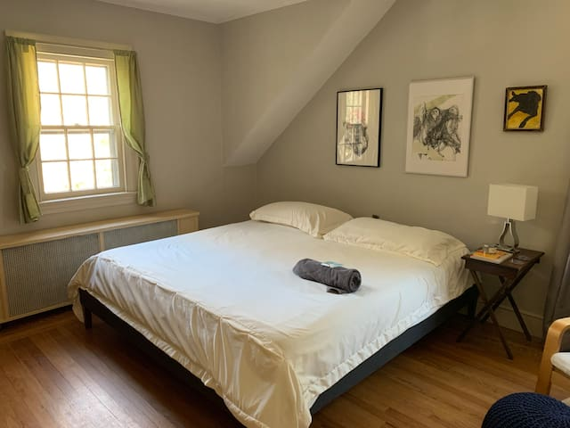Light-Filled Bedroom and Bath close to SCSU & Yale