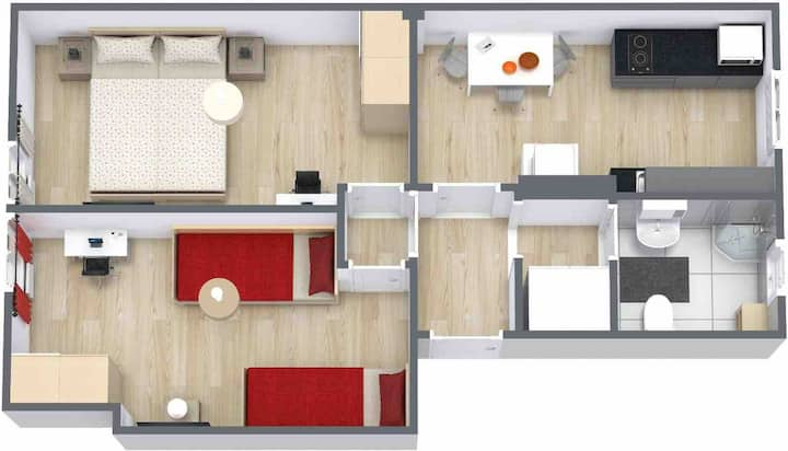 Уютная 2-х комнатная кв в центре Берлина