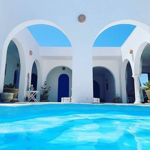 Chambres d hôtes à Djerba face à la mer