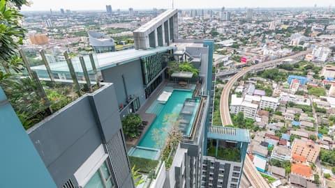 Private Apartment in Condo, near MRT Yeak Tiwanon