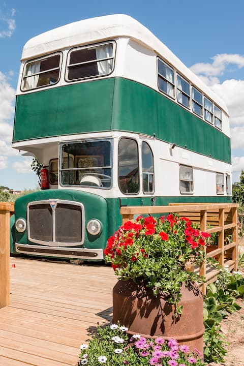 Retro '60s camping bus transformed into home