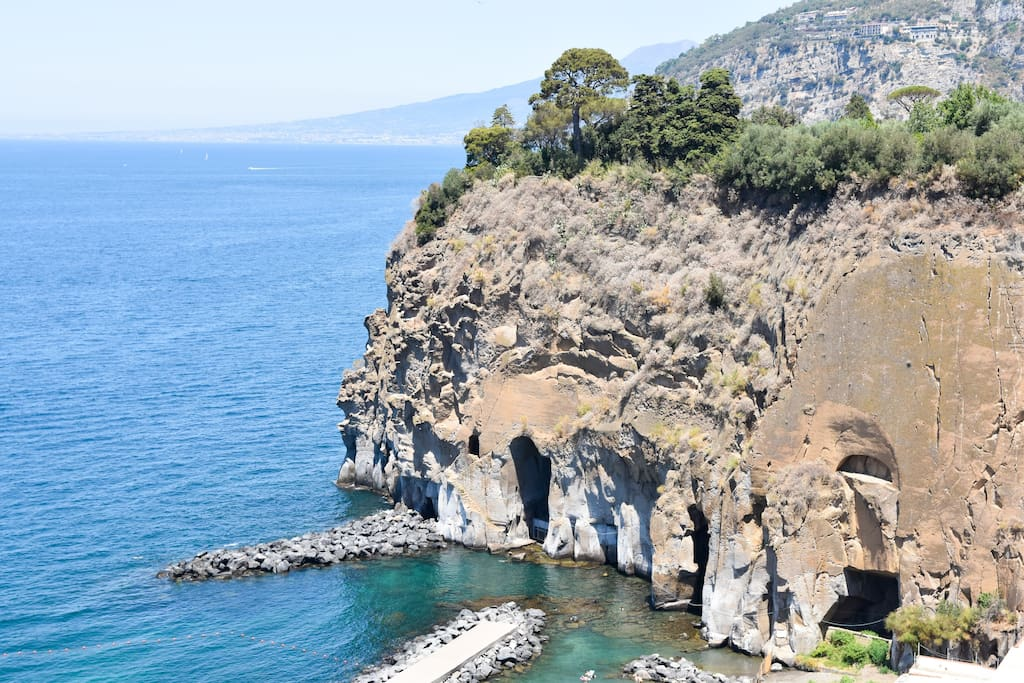 Detail of the bay of Piano di Sorrento