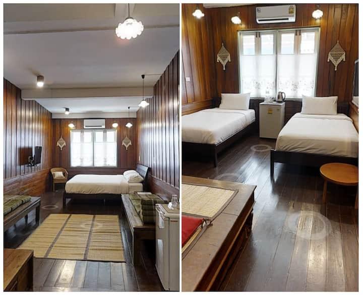 2BR sleeps 9; Khaosan/Old Town; Breakfast&WiFi