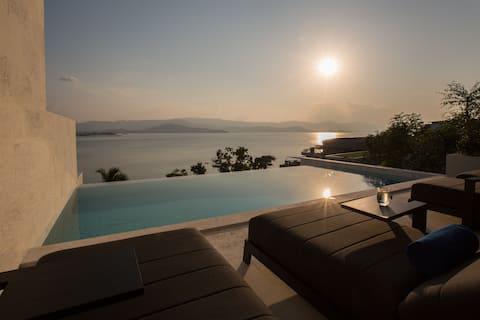 Luxus Sunset 3BR Villa mit STRANDZUGANG