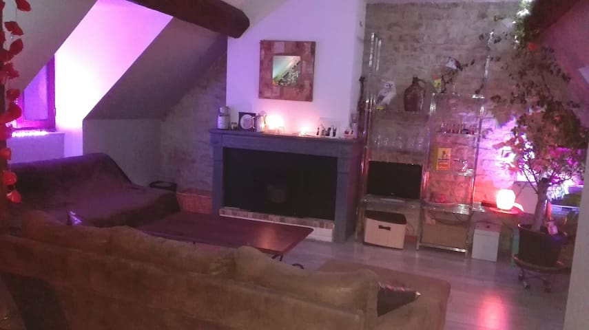 Chambre dans appartement, centre ville Chalon.