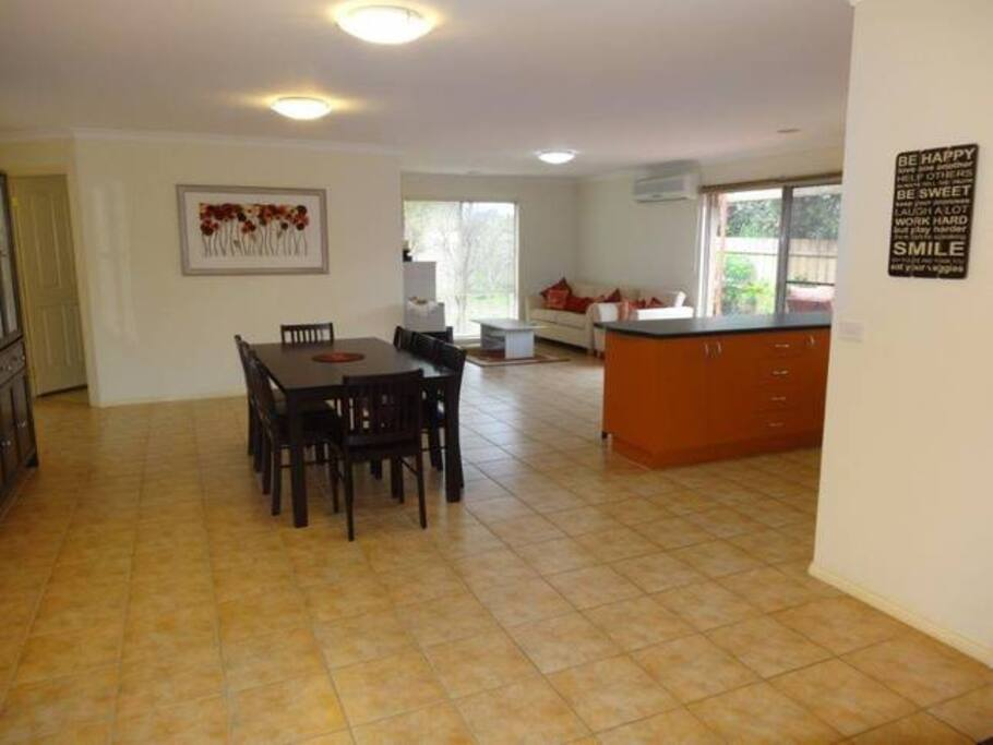 Open plan living for enjoyment with the family