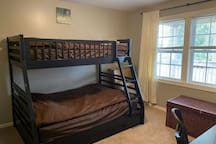 A full and twin bunk bed awaits you to make sure you get a good night rest