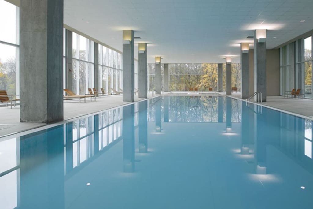 The best, most awesome indoor/outdoor pool and hot tub area in Chicago (possibly the country)