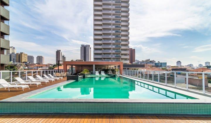 Lindo Apartamento Metro Ipiranga. Vista pôr do Sol