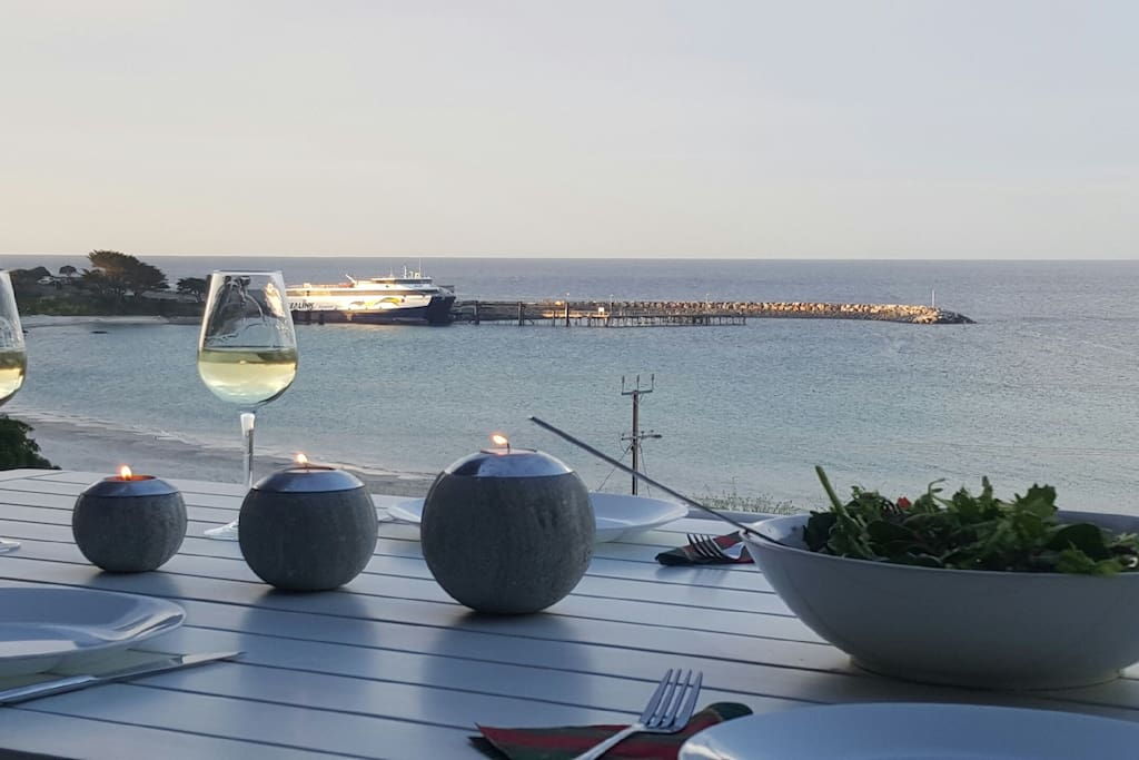 Dining over the sea