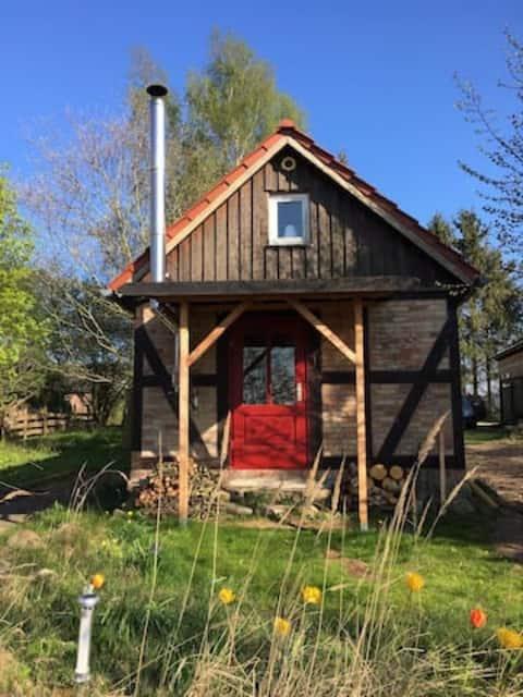 Homeoffice in Naturhaus mit Kamin nah der Ostsee