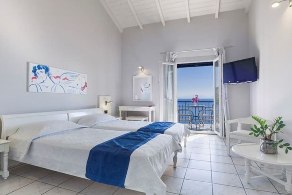 Skopelos Hotels, Twin Or Double Room Sea View