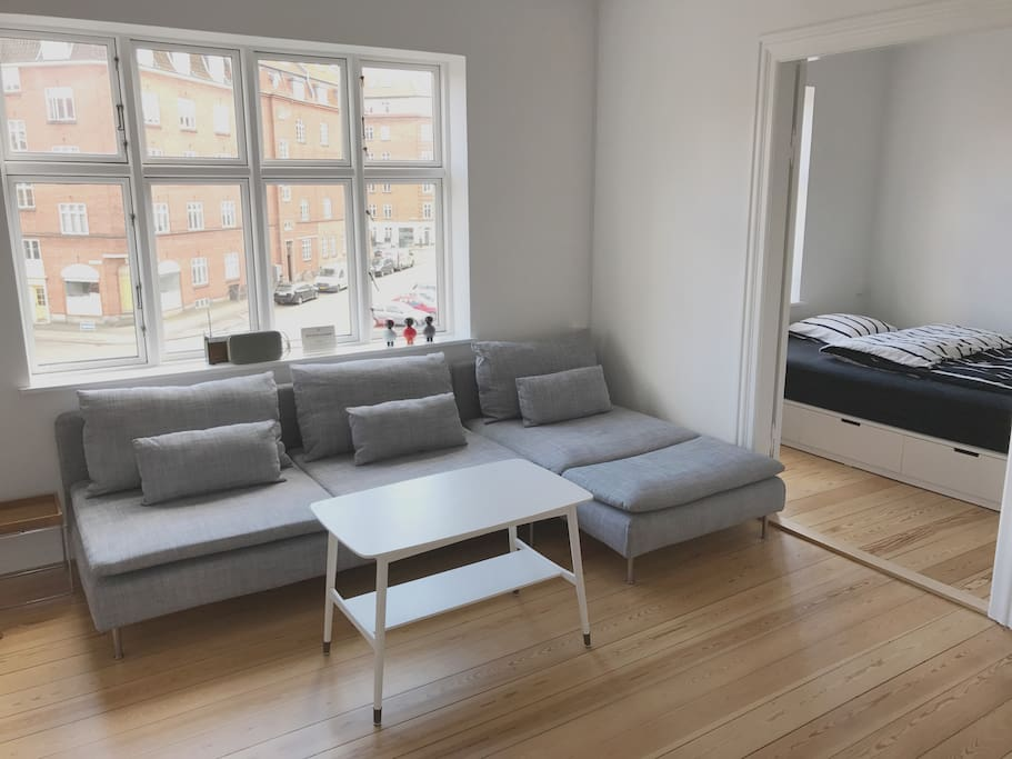 First living room with TV & Sofa