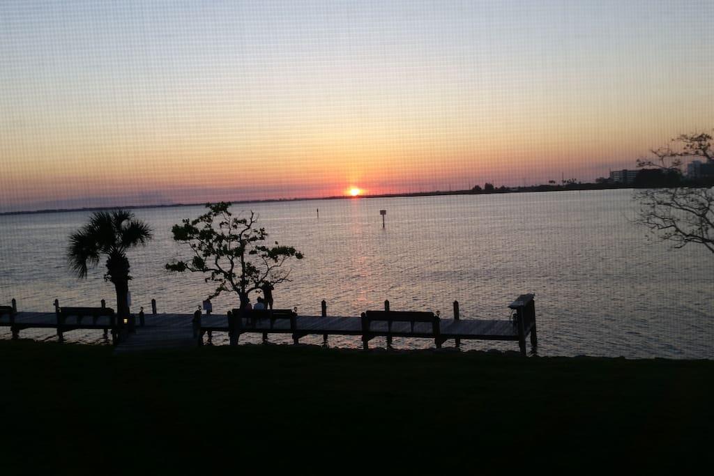 Sunset over the Banana River