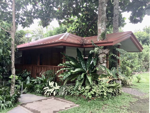 Enjoy a Bamboo Cottage for max  of 5 with Pool