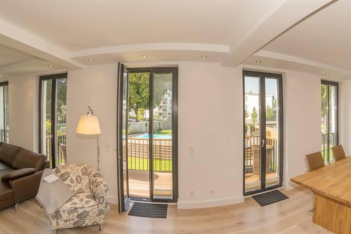 Parkvilla Augustine, App Eisvogel - Binz - Appartement
