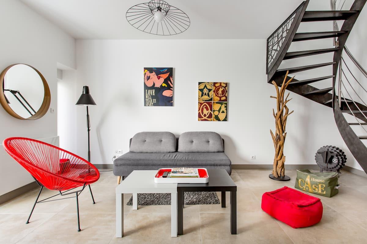 Séjournez dans une maison de ville design en plein centre de La Rochelle