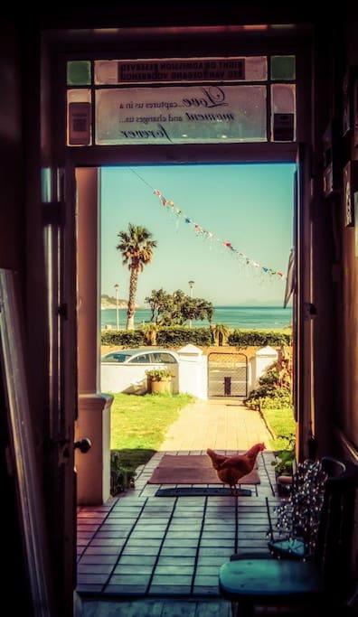 Front door with views