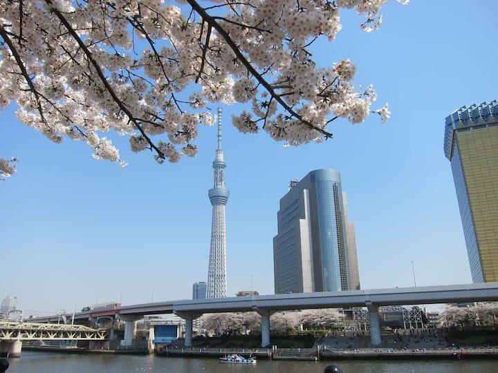 Tokyo Sky Tree & Cherry