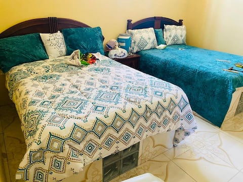 Amazing 2 double Bed room with living room