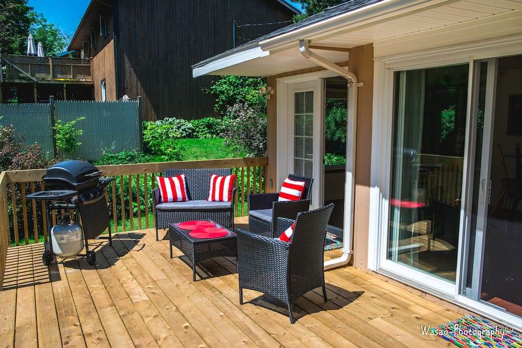 Back Deck - perfect for a BBQ!