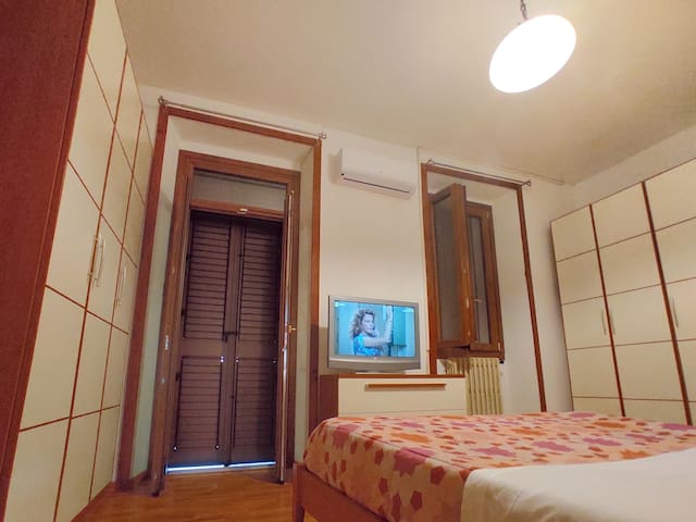 first floor bedroom with air conditioning