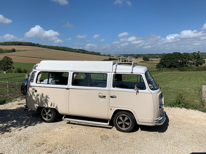 VW Campervan - pitched at campsite of choice*!