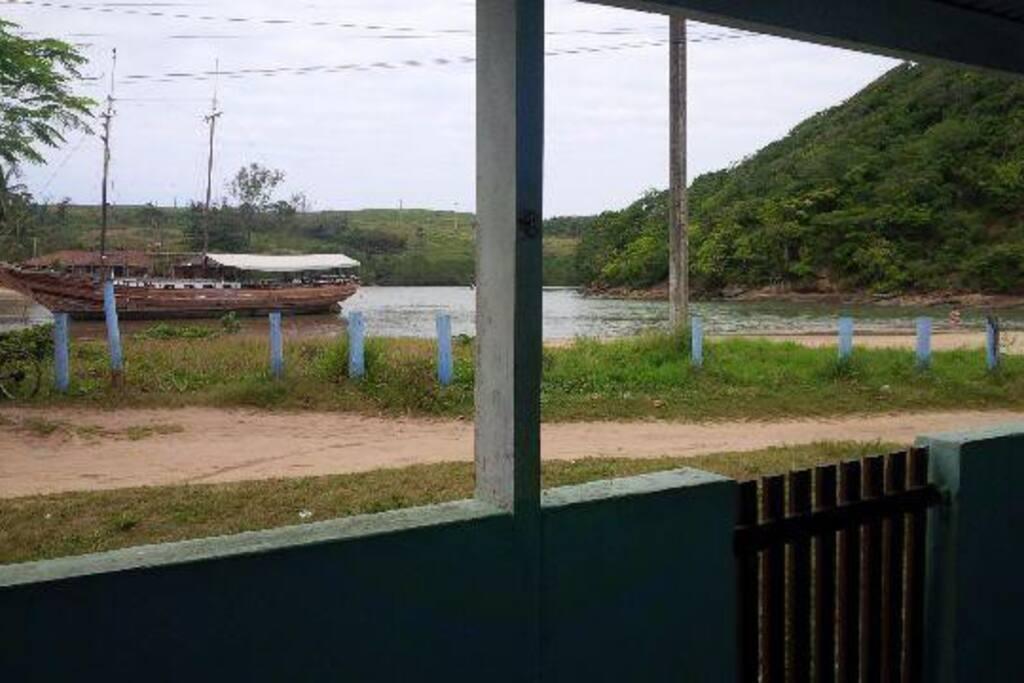 Vista da varanda da casa.