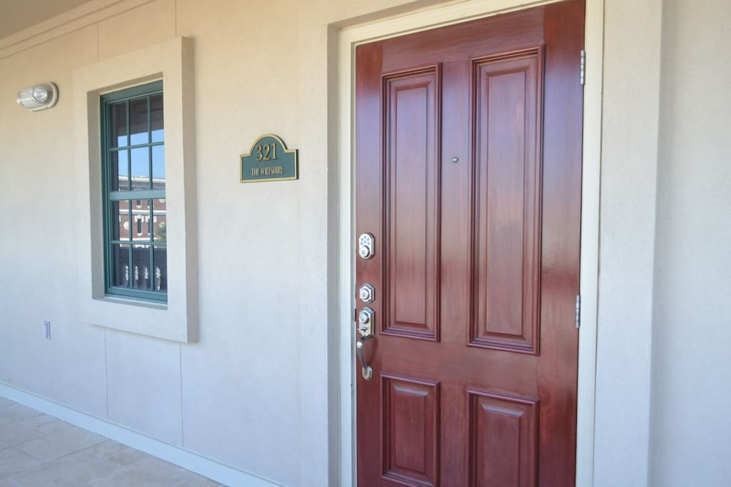 Front door entrance. Building B, Unit 321