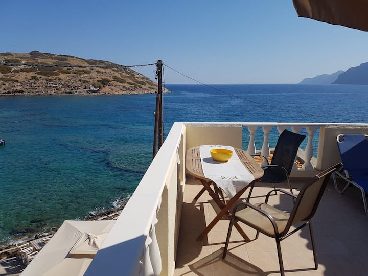 Meltemi Beach Terrace Apartment Mochlos Crete