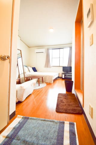 2min walk from Todaimae sta! Private flat!AS374