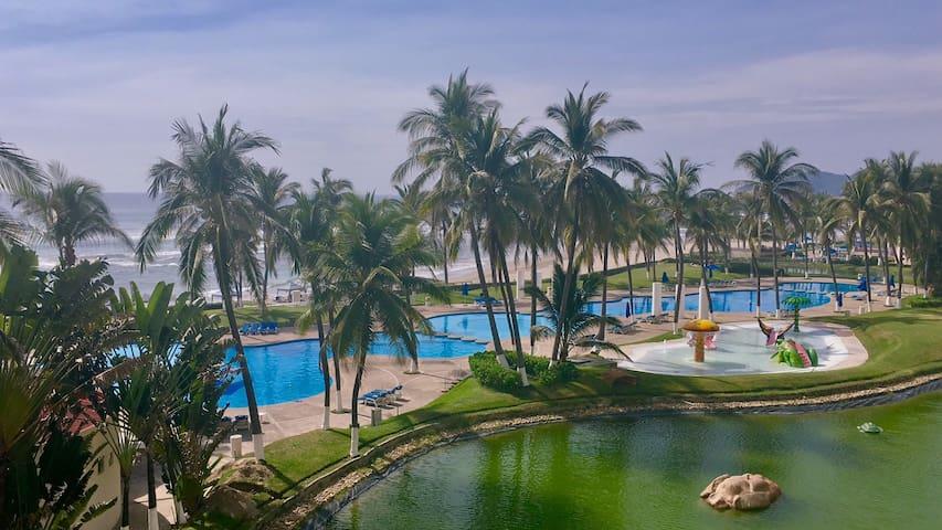 Depa con gran playa Mayan Island Aca desinfectado!